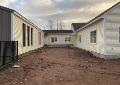 Educational Play Center - Manchester, CT - Framed Addition - Siding Installation